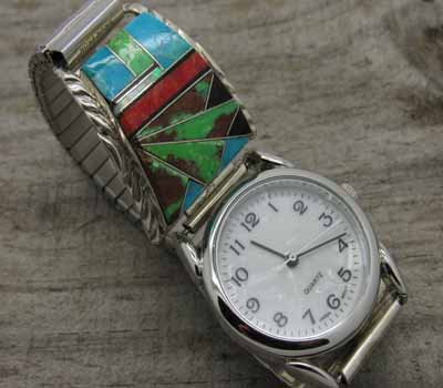 Gemstone Inlay Watch