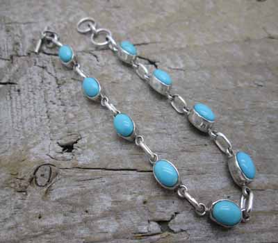Native American Link Bracelet Turquoise